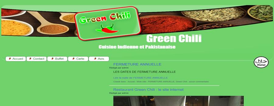 Nouveau design pour Le Green Chili 71300 Montceau-les-Mines, restaurant indien et pakistanais présenté par MowXml