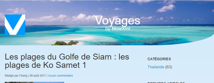 site, news, MowXml, Voyages